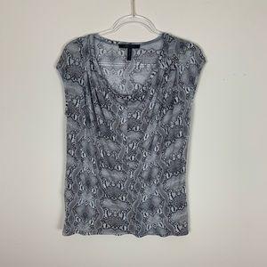 BCBGMAXAZRIA | Snake print blouse size small